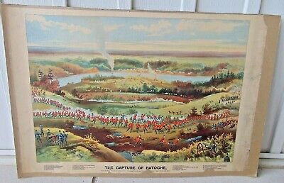 1885 Print Louis Riel, Metis Rebellion Capture Of Batoche Sk Grip Publ Toronto