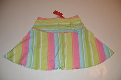 NWT Gymboree Palm Springs Girls Butterfly Striped Skort/Skirt size 12