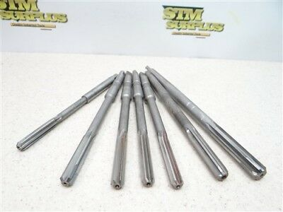 """Assorted Lot Of 7 Hss 1Mt Chucking Reamers 5/16"""" To 1/2"""" Cleveland Union"""