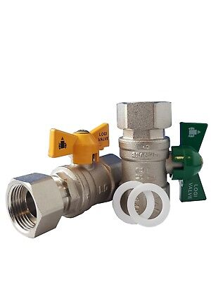 Catering Restaurant Continuous Flow Ball Valve Kit 3/4 Female