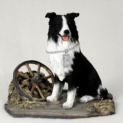 BORDER COLLIE  MY  DOG  Figurine Statue Pet Lovers Gift Resin Hand Painted