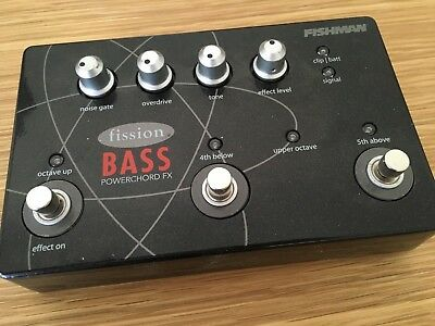 FISHMAN PRO-FSN-BAS Fission Bass Powerchord FX Pedal - Monster bass tones
