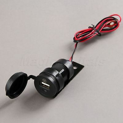 Motor Bike Mobile Phone USB Charger Power Adapter Socket Waterproof 12V to 5V