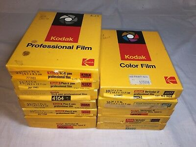 Lot of 11 boxes Expired KODAK FILM -  4x5 & 2x3  Formats