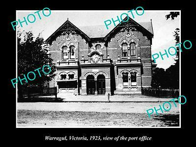 Old Large Historic Photo Of Warragul Victoria, View Of The Post Office 1923