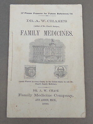 1880 Dr. Chase's Family Medicines Ann Arbor Michigan Vintage