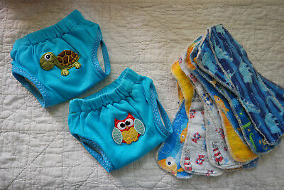 Potty Training Pants, Trainers Cloth Diaper pull ups Size Small w/ extra inserts