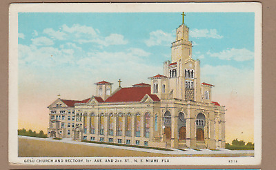 Miami, Fl/ Gesu Church and Rectory/ very large church/map, directions on back/pc