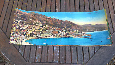 MONTE CARLO  Panorama   CPA panoramique couleur 1880 - photogravure