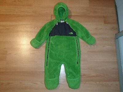 The North Face Plushee Snowsuit/bunting Suit,green/grey,size 6-12 Months