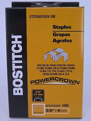 1 x Bostitch Tacker Staples STCR5019 3/8 9mm 1000Box STCR501910MM1M FREE POST