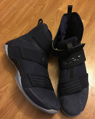cce2a0effd0 Size 16 Nike LEBRON Soldier 10 SFG Midnight Navy 844378-444 Mens Premium LBJ