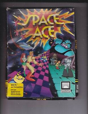 Space Ace 5 1/4 Floppy Disks  in Box