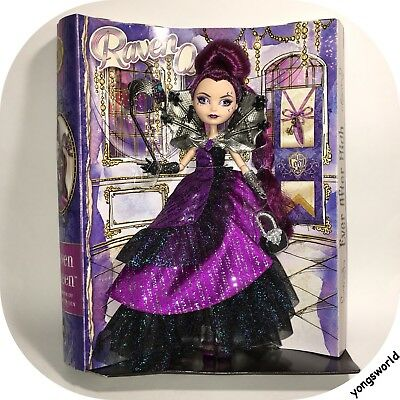 Ever After High Raven Queen Thronecoming Doll With Outfit Lot