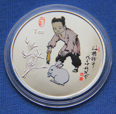 2011 Chinese Zodiac Silver Colour Medal Coin--Year of the Rabbit #30