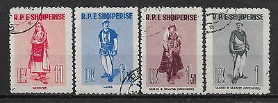 1961 ALBANIA COMPLETE SET OF 4 USED STAMPS (Michel # 623-626) CV €7.50