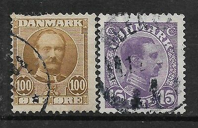 1907,1913 DENMARK SET OF 2 USED STAMPS (Michel # 59,69a)