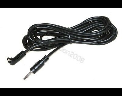 5M 5 Metre Flash Trigger Sync Cord Cable 3.5mm Plug to Male PC Socket for Camera