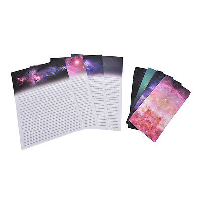 Starry Sky Writing Letter Set Stationary Paper & Envelope for Postcard &LetterMC