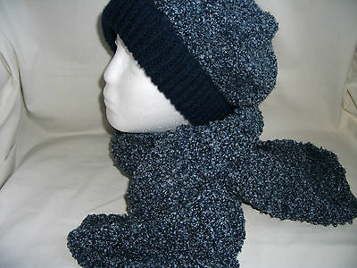 Hand-knitted Hat & Scarf Ref 939