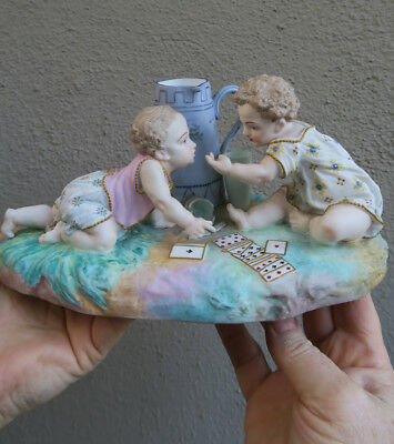 PARIS France Antique Bisque Porcelain figurine vintage Victorian Vion Baury old