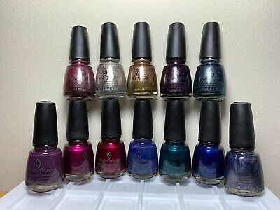 China Glaze AUTUMN NIGHT Collection 12 Colors Nail Polish 1223-1234 NO DISPLAY