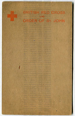 British Red Cross and Order of St. John postcard