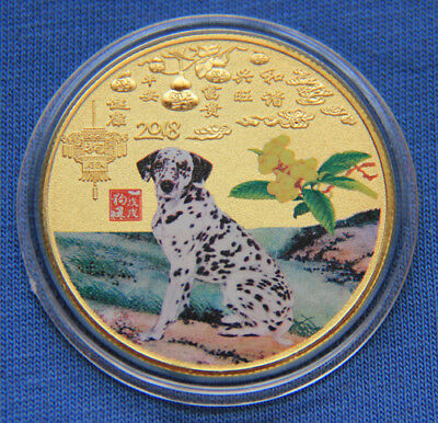 2018 Chinese Zodiac 24K Gold Colour Medal Coin--Year of the Dog #25