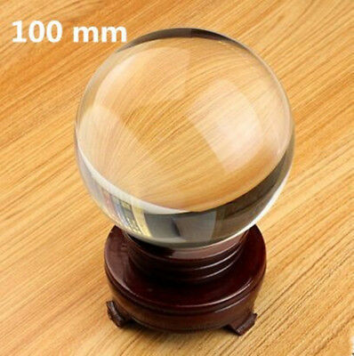 100mm Clear crystal ball quartz K9 glass Artificial Crystal Healing Ball Sphere