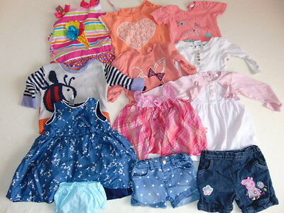 Used baby girls clothes bundle 9-12 months (No12)