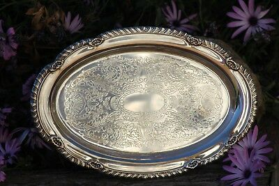 SILVER PLATE TRAY, serving tray made in USA, silver plate.