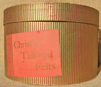 Vintage Christys Tailored Felts Hat Box