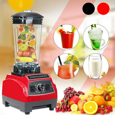 German Commercial 3HP Blender Mixer 2L HEAVY DUTY Ice Crusher 1800W Red Black