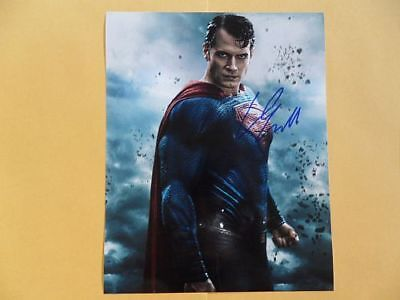 Henry Cavill 8x10 Autographed 'Dawn' Photo