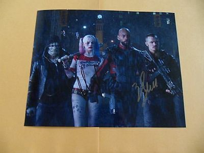 Margot Robbie, Will Smith 8x10 Autographed 'Suicide Squad' Photo