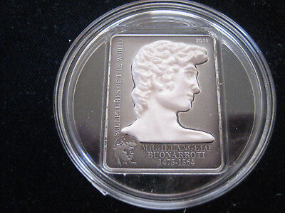 "Mds Cook Islands 5 Dollars 2010 ""michelangelos David"", Silber"