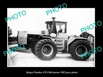 Old Large Historic Photo Of Steiger Cougar Cp-1360 Tractor 1982 Press Photo