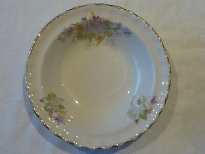 GRINDLEY ENGLAND FLAT RIMMED DESSERT BOWL GOLD TRIM FLORAL Ca 1954+ REPLACEMENT
