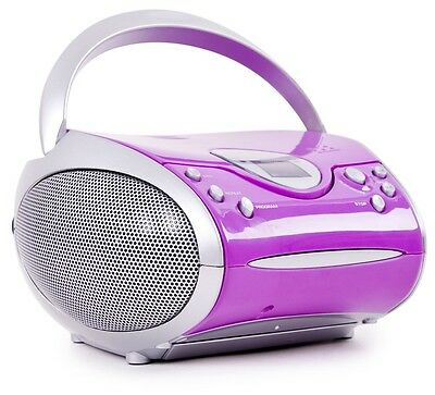 Children Girls Game Room HiFi Stereo Music System CD Player Radio Portable