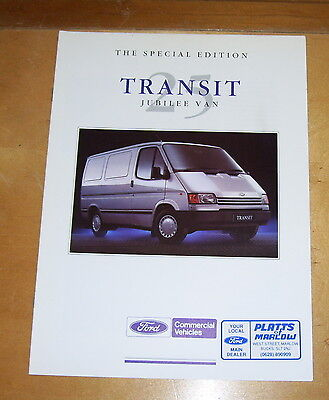 The Special Edition Ford Transit 25 Jubilee Van Sales Brochure. Sept 1990 Fa976