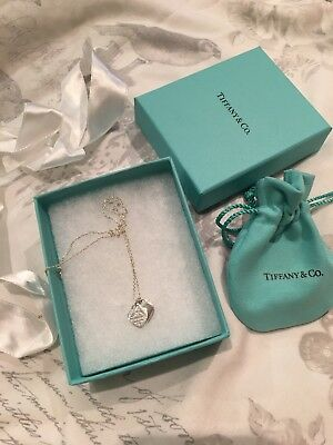 Tiffany Double Heart Silver Necklace