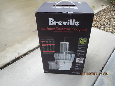 juicer breville BJE200 Silver. Juice Fountain Compact + on Board Pulp Container