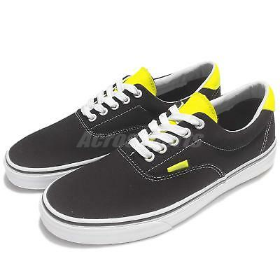 Vans Era 59 Neon Leather Black Canvas Classic Men Skate Boarding Shoes 71010227