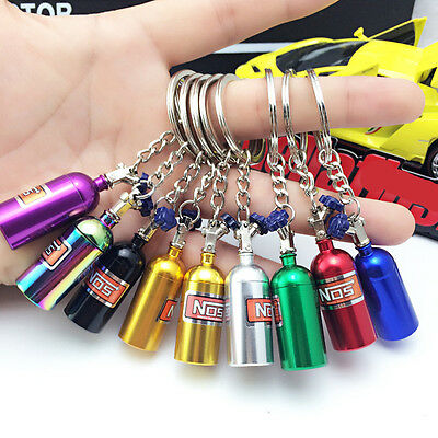 NEW Turbo Nitrogen Bottle Metal Keyfob Key Ring Holder Car Keychain Pendant