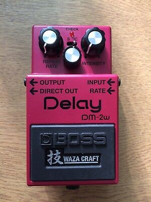 Boss DM-2W Delay 'Waza Craft' Guitar Effects Pedal with one year Boss warranty