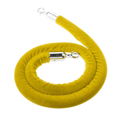 Yellow Queue Divider Crowd Control Stanchion Barrier Posts Rope 1.5m Long