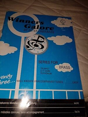 Trumpet/horn/euphonium tune book Winners Galore - Easy.  73 well known tunes.
