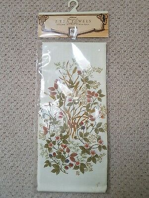 Marks & spencer harvest RARE pack of 2 tea towels