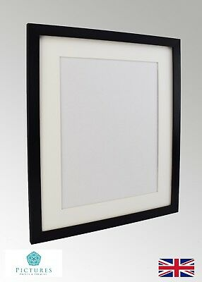 "Black Photo Picture Poster Panoramic Frame Off White MOUNT 3x3-11x34"" A6-A3 28mm"