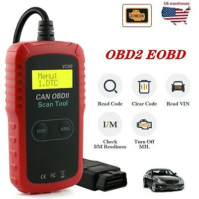 Universal OBD2 Car Engine Fault Code Reader CAN I/M Scanner Auto Diagnostic Tool